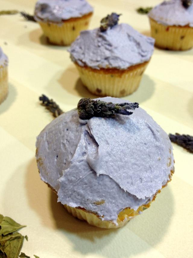 Magdalenas de lavanda (Lavender Cupcakes)