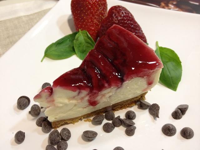 Tarta de queso con mermelada de frutos rojos (Cheesecake)