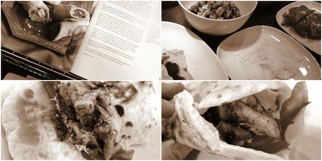 Rollitos Kathi de pollo. Los burritos de la India 2