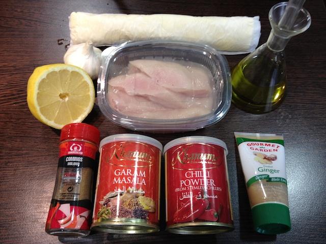 Rollitos Kathi de pollo. Los burritos de la India 3