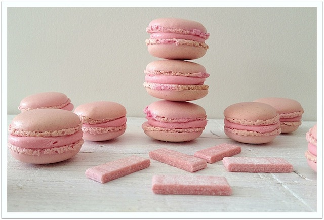 Macarons de chicle (au bubble gum)