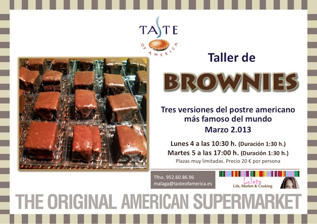 Taller de Brownies Taste of America