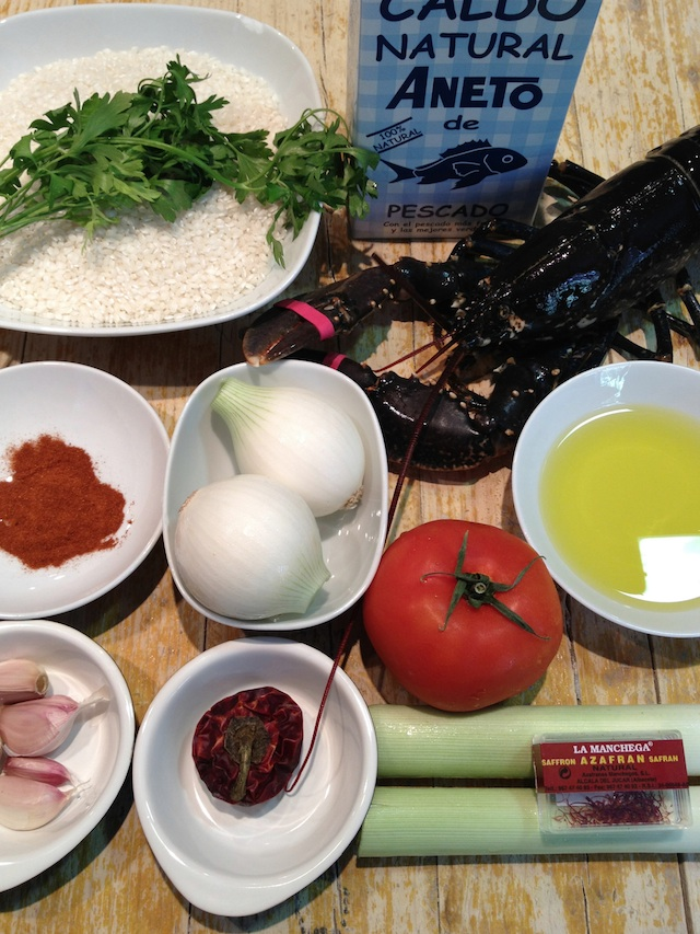 C79 rice paella with lobster Loleta ingredients