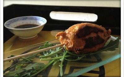 Gai Ping (Brochetas de pollo picado)