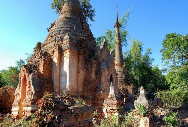 Las ruinas de In Dein (Lago Inle, Myanmar)