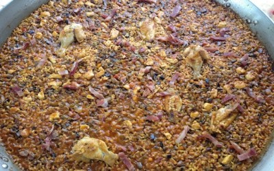 The field and garden paella rice (Version take & cook)