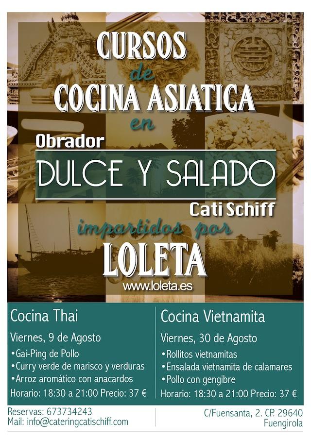 Loleta imparte Cursos de Cocina asiatica en Obrador Dulce y Salado Cati Schiff. Fuengirola