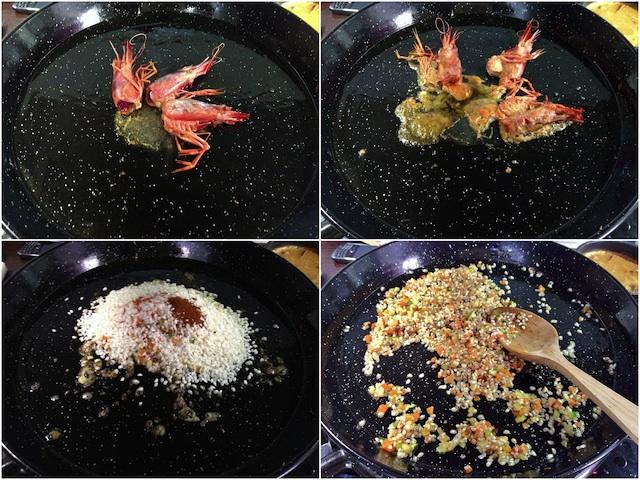 Arroz en paella con gamba roja Loleta 4