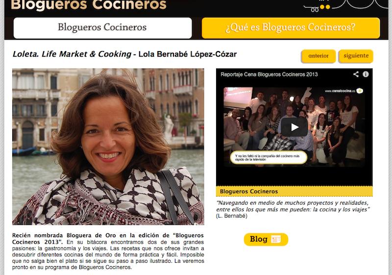 loleta cocineros blogueros
