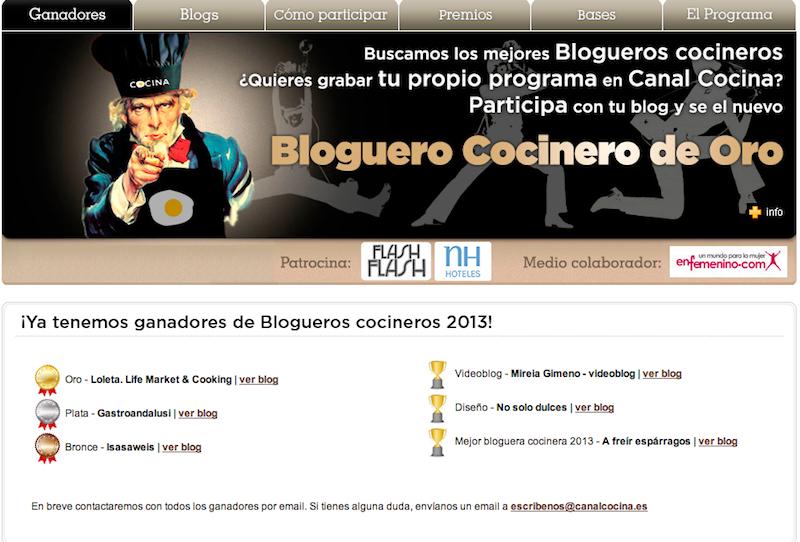 ganadores cocineros blogueros 2013