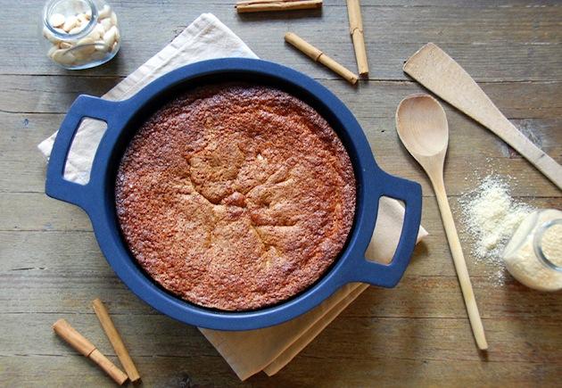 Cobbler (tarta) de peras con cumble crujiente