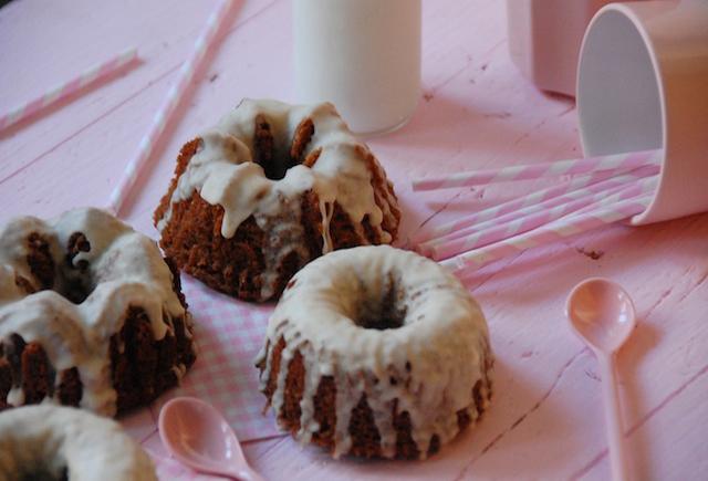 Mini bundt cakes de mantequilla «quemada»
