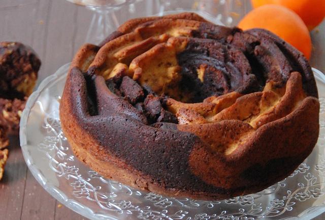Bundt Marble Cake de chocolate y naranja