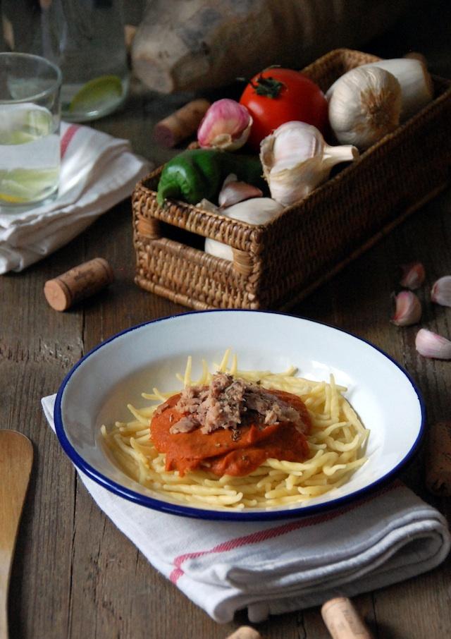 Trofie con salsa de verduras y atún Loleta 1
