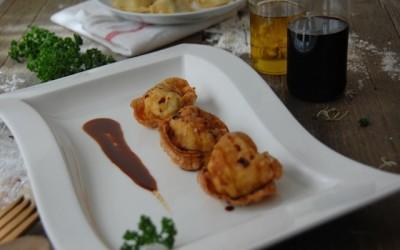 Buñuelos de bacalao estilo asiático – Wonton con miel de caña