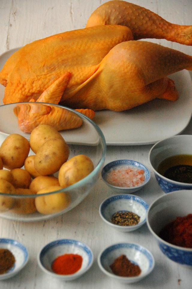 Pollo asado con patatas picantes Loleta 2