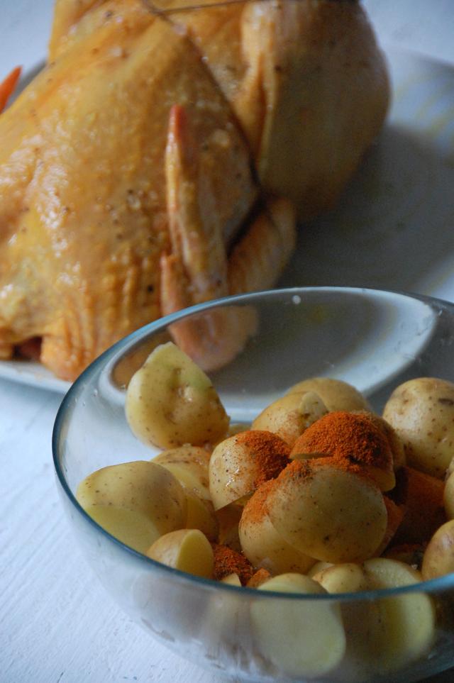 Pollo asado con patatas picantes Loleta 6