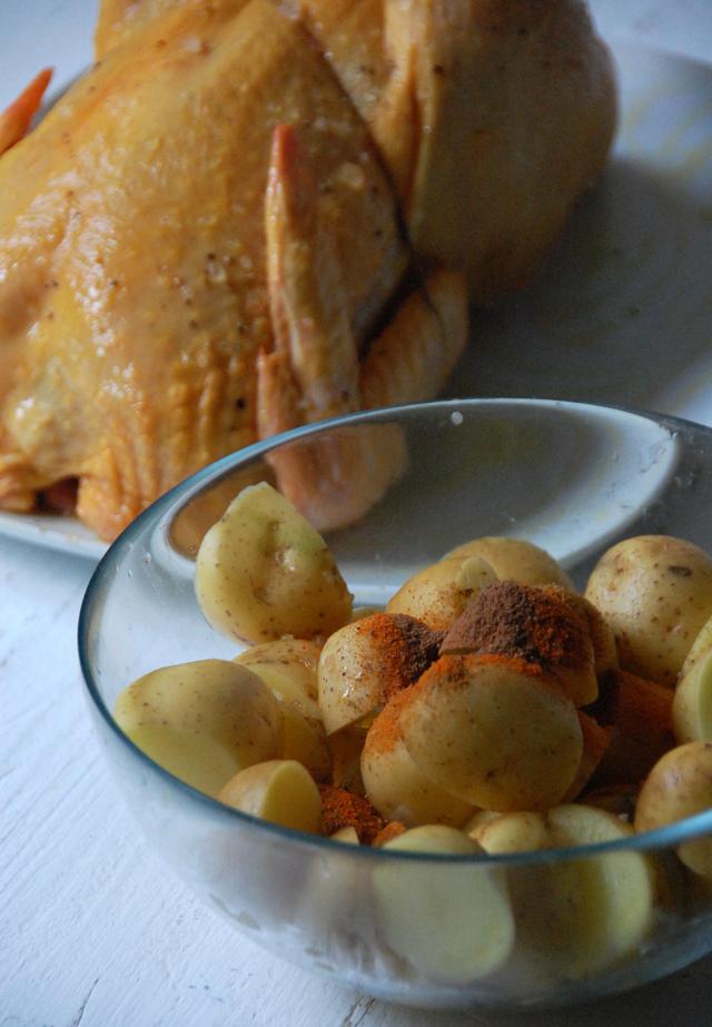 Pollo asado con patatas picantes Loleta 7
