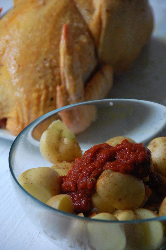Pollo asado con patatas picantes Loleta 8