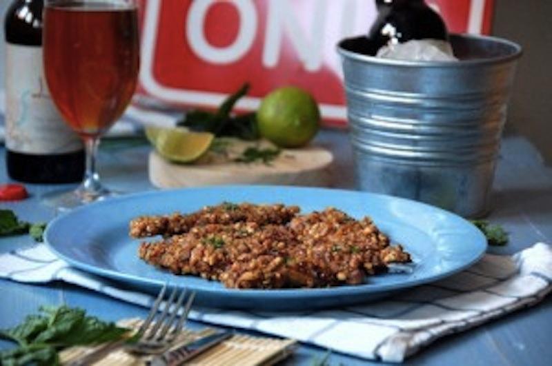 Snacks de Pollo a la Cerveza con Kikos