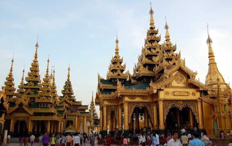 La estupa de Shwedagon Pay, Yangón