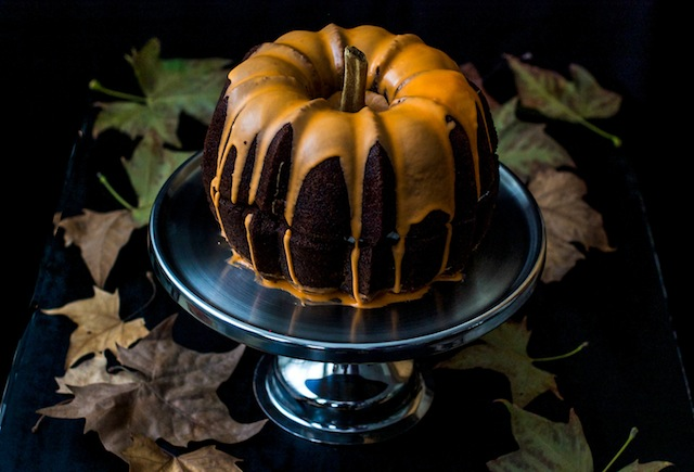 Tarta de calabaza con nueces pecanas. Pumpkin cake