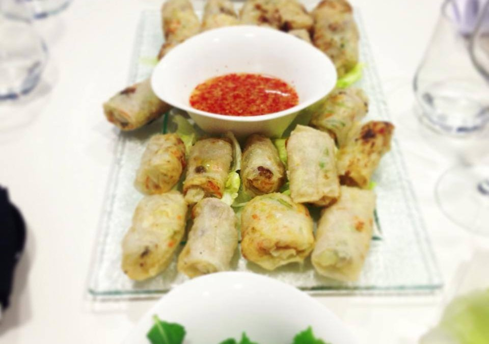 Rollitos vietnamitas. Show cooking Loleta