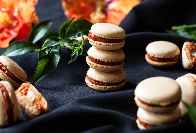 Macarons de sobrasada y queso de cabra