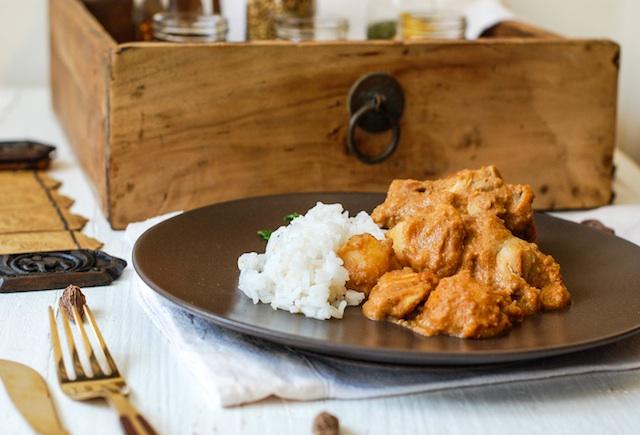 Curry massaman de pollo. El sabor del reino de Siam