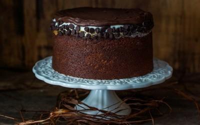 Tarta chocolate | Con crema de galletas y mantequilla