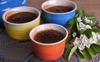 Creme brulee with hazelnut cocoa cream