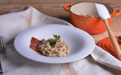 Risotto with sausage Creole