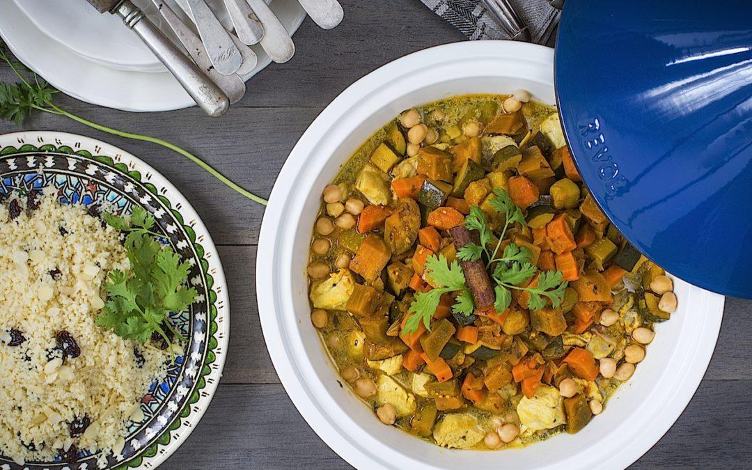 Cous Cous de pollo con verduras. Marruecos en tu mesa