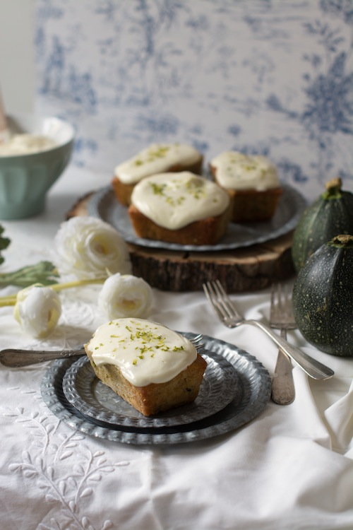 Zucchini and lime cakes