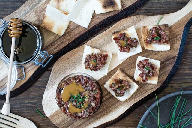 Tartar de salchichón. Málaga en tu mesa