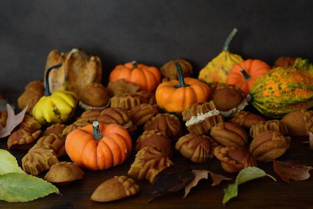 Bizcochos de calabaza con buttercream. ¡Viva el otoño!