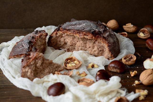Pan casero. Castañas con salvia con y sabor a casa