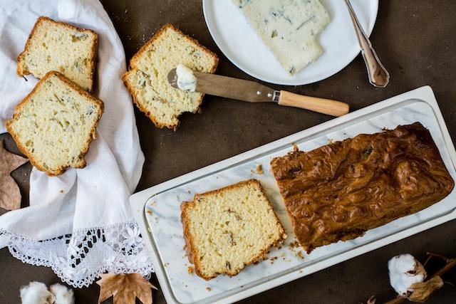 Bizcocho salado de queso gorgonzola. ¿O es un pan?