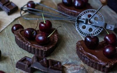 Tartaletas de chocolate. Pura gula.