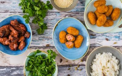 Croquetas de pollo tandoori. Crujiente sabor a India
