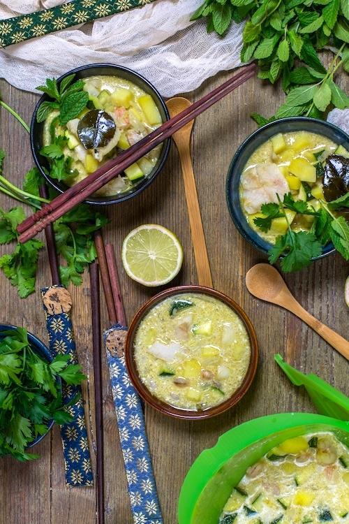 Curry verde de pescado y verduras-2