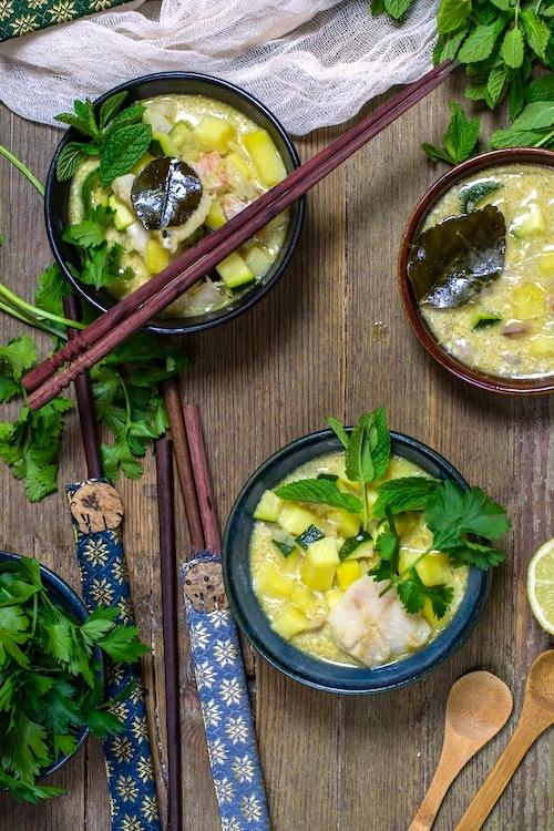 Curry verde de pescado y verduras-3
