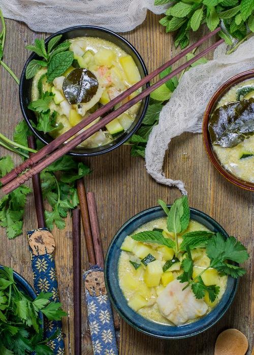 Curry verde de pescado y verduras-4