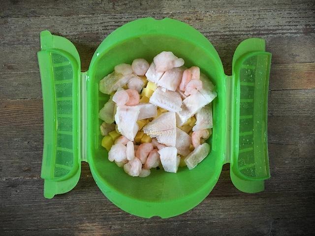 Curry verde de pescado y verduras-8