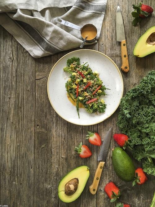 Ensalada de col Kale, bimi y salnicornia con kimchee. Comando Actualidad 9-1