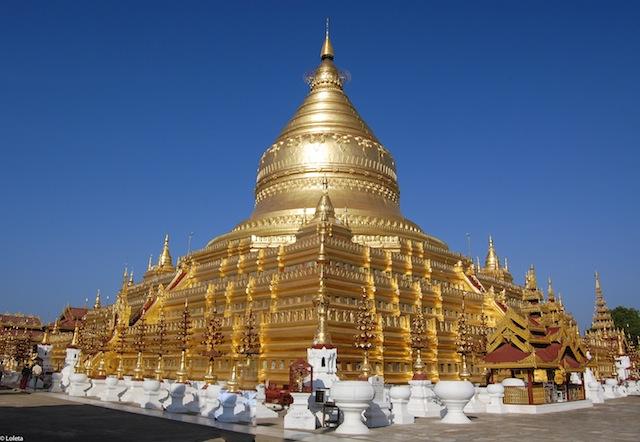 Pagoda Shwezigon. Crema mousse de yuzu 12-1