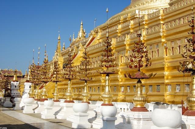 Pagoda Shwezigon. Crema mousse de yuzu 13-1