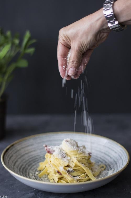 Pasta con confit de pato y trufa blanca. Sorteo Mundisa 2-1