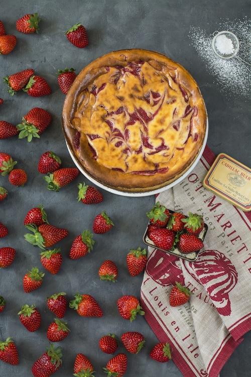 Cheesecake con fresas 2