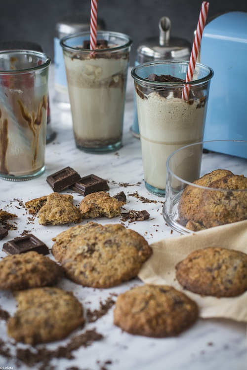 Cookies de platano, chocolate y nueces 6